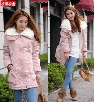 2013 new fashion womens winter jacket long fleece warm women winter coat 5 colors 1