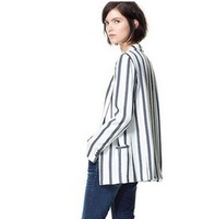 BIG SALE!Free shipping 2013 autumn european style cheap striped blazer/coat for women high quality