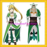 Free Shipping Custom Made Sword Art Online Anime Cosplay Leafa Dress Costume,1.5kg/pc