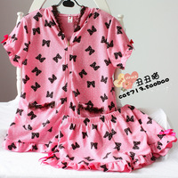 2013 pink sweet lovely sleepwear young girl short-sleeve summer shorts pure cotton lounge set