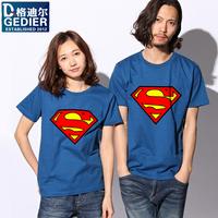 superman short-sleeve super man pattern t-shirt  100%cotton t shirt men's cotton  superman t shirt on sale free shipping