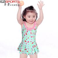 Child baby child female hot spring swimwear one piece ezi10061 2 - 13 swimming cap