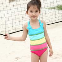 Polly child swimwear female child one piece swimwear hot spring swimwear sunscreen