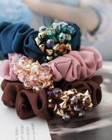 Min.order is $10(mix order) free shipping Elegance fashion crystal hair ring hair rope headdress flower head