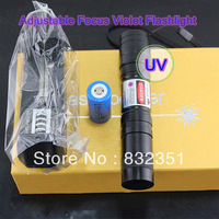 Adjustable Focus led bulb uv light laco glue curing lamp self defense flashlight and money detector scorpion laser pointer torch