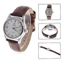 2014 New Hot Sales Biaoqi 8132 Women's Waterproof Rhinestone Decor Automatic Mechanical Leather Band Wrist Watch Free Shipping