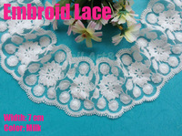 5 meters/ lot  7cm width Milk embroid  lace  for fabric warp knitting DIY Garment Accessories free shipping#1799