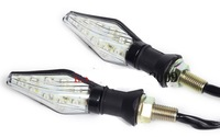 2pair Universal Motorcycle 2 Color LED Turn Signals Amber Blinker Indicators Lights free shipping
