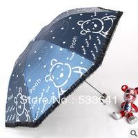 Free shipping fashion cute structurein vinyl sunscreen folding umbrellas anti-uv sun umbrella princess lace umbrella