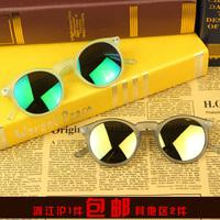 Fashion multicolour 2013 mercury sunglasses male female personality box scrub sunglasses gold sunglasses