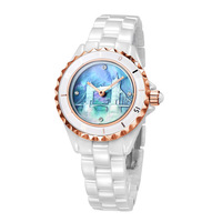 Vetoo watch ceramic table white ladies watch rose gold Women