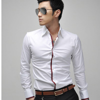 Free shipping New Men's Slim casual men's long-sleeved shirt fashion men's shirts long-sleeved shirt