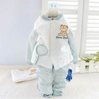 Hot! Autumn underwear child underwear set ploughboys baby bear set child cardigan twinset  cc