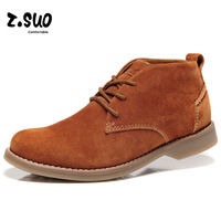 Z . suo men's high-top shoes skateboarding shoes cowhide cotton-padded shoes male shoes male g16