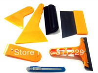 Vehicle Car Window Vinyl Film Wrap Scraper Application Installation Tool Kit Set