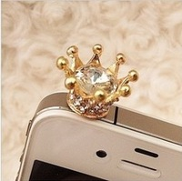 RQ6 Free Shipping!Korean crown the dustproof plug iPhone dust plug B2.85