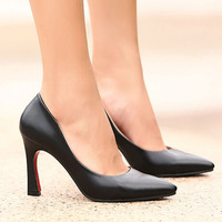 2013 new vintage designer ol casual dress shoes red bottom high heels pointed toe women pumps black red white nude size 35-39