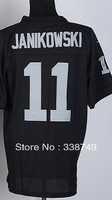 Free Shipp Wholesale Men's American Football Jerseys Cheap Oakland #11 Sebastian Janikowski Black Elite Jerseys,Embroidery Logo