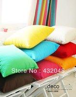 45cm Colorful candy color 100% solid color cotton canvas cushion pillow cover