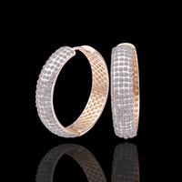wholesale 18K Rose Gold plated fashion jewelry Austria Crystal,rhinestone,CZ diamond,Nickle Free Circle Hoop earrings KE424