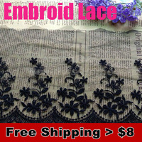 1.19$/meter.sale from 1 meter,15cm super width 2 colors embroid  lace  for fabric warp knitting DIY Garment Accessories f#1806