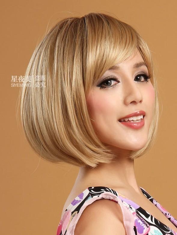 Short Dark Blonde Wigs 18