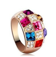 CR9 Free shipping Crystal Ring,rhinestone ring, Health Jewelry Free Plating Gold,wholesales,Golden B2.8