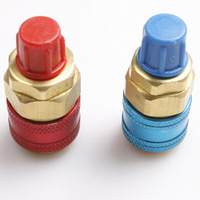 Quick Couplers for Refrigerant R134a / Automobile Car HVAC A/C Adapter Threaded 1/4SAE 180 degree