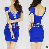 2013 fashion spaghetti strap gauze slim hip slim sexy one-piece dress Sexy t shirt 6118