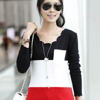 HOT,New Fashion Womens Ladies O-Necks Long Sleeve Cotton Casual Tops Shirt Blouses T-Shirt Size M L XL XXL Free Shipping