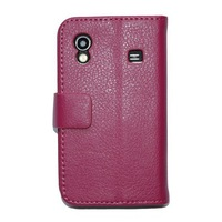 Lychee PU Wallet Case For Samsung Galaxy Ace S5830 Case