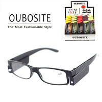Cheapest Quality Led Light Glasses LED Reading Glasses For Beds Readers With Battery Prescription Eyeglasses Wholesale