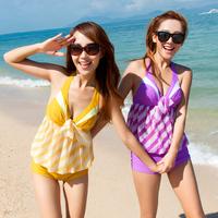 2013 wind small steel push up swimsuit hot springs female 1346 split swimwear