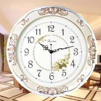 free shipping  large living room wall clock  antique mute quartz clock and watch modern clock