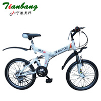 20 12 folding mountain bike shock absorption bicycle variable speed drive tianbang student car