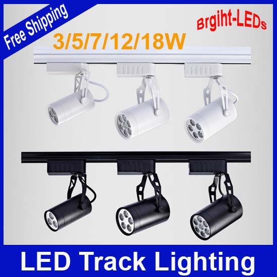 Traccia di luce led 3w 2pcs/lot 5w 7w 12w 18w 110v 230v elementi innovativi di alta qualità le luci del soffitto appeso