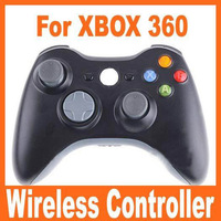 Free shipping Retail White/Black new white wireless controller game pad joystick for xbox 360 100% compatible good quality