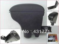 Free shipping 2007-2010 Toyota Vitz/Yaris Black Leather Console Armrest
