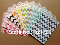 2 Pack 50 PCS Colorful Chevron Striped West Point Snack Popcorn Fries Hamburger Fried Chicken Food Oil Paper Bags