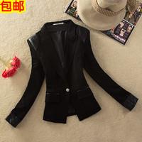 2013 women's slim short jacket patchwork female suit elegant female blazer