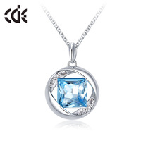 crystal necklace female fashion short chain accessories pendant