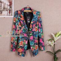 2013 spring fashion ol elegant slim blazer outerwear female casual print blazer