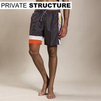 Privatestructure men's clothing color block stripe sports shorts casual pants 1166