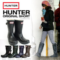 Women's Rain Boots Hunterboots     rubber   knee-high water  overstrung  Rainboots Shoes