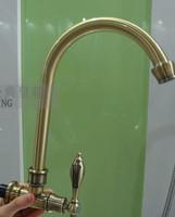 Copper faucet single hole single cold wall vintage faucet