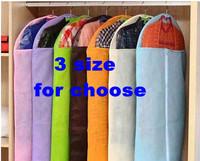 5pcs/lot multi-colors clothes storage bag with transparent window dustproof clothes cover garment bag