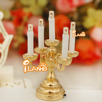 iland 1/12 Dollhouse Minatures 5 candles LED Table Lamp Battery Operated LD010E