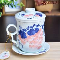 Ceramic cups piece set cup filter cup office cup