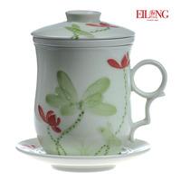 Eilong tea celadon ceramic mug filter cup