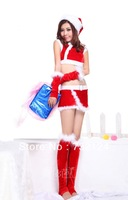New arrive one piece!!Free shipping red christmas costume for women